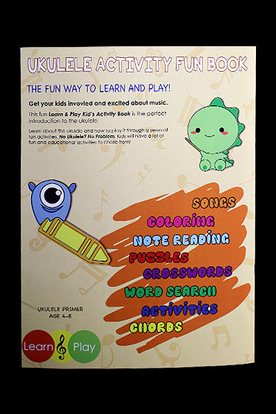Ohana Ukuleles Kid's Activity Book Back Cover
