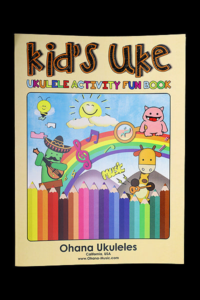 Ohana Ukuleles Kid's Activity Book Front Cover