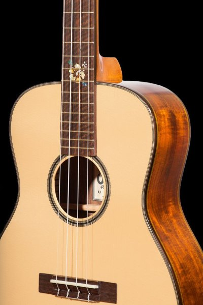 Short Scale BKT-250G All Solid Spruce And Acacia Tenor Scale Baritone Ukulele