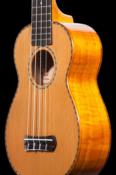 Obsolete Models SK-50MG Solid Cedar and Flamed Mahogany Soprano