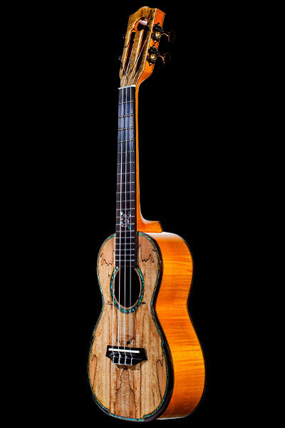 ohana ck-450smp solid spalted maple ukulele front