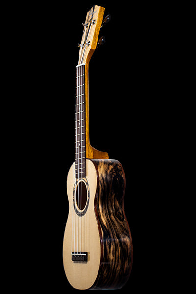 Obsolete Models SK-70BWE Solid Spruce + Black & White Ebony Soprano Ukulele
