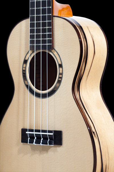 Obsolete Models CK-70BWE Solid Spruce + Black & White Ebony Concert Ukulele