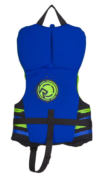 Radar Hideo Toddler Life Vest CGA (0-30 lbs) - Neon Green/ Blue