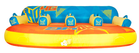 HO Tube with Seats 4 Person - Blue/Orange/Yellow