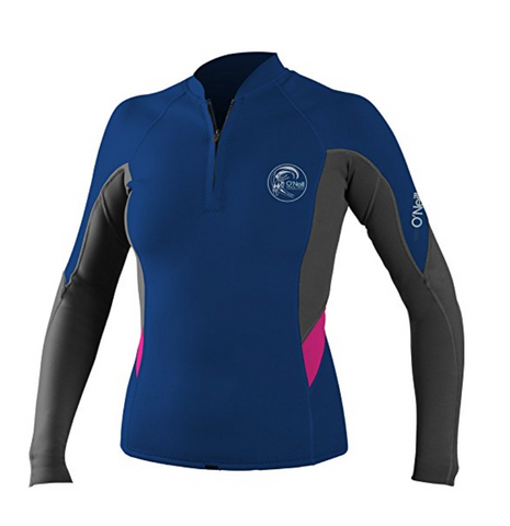 O'Neill Bahia Front-Zip 1MM - Cobalt/Graphite/Berry