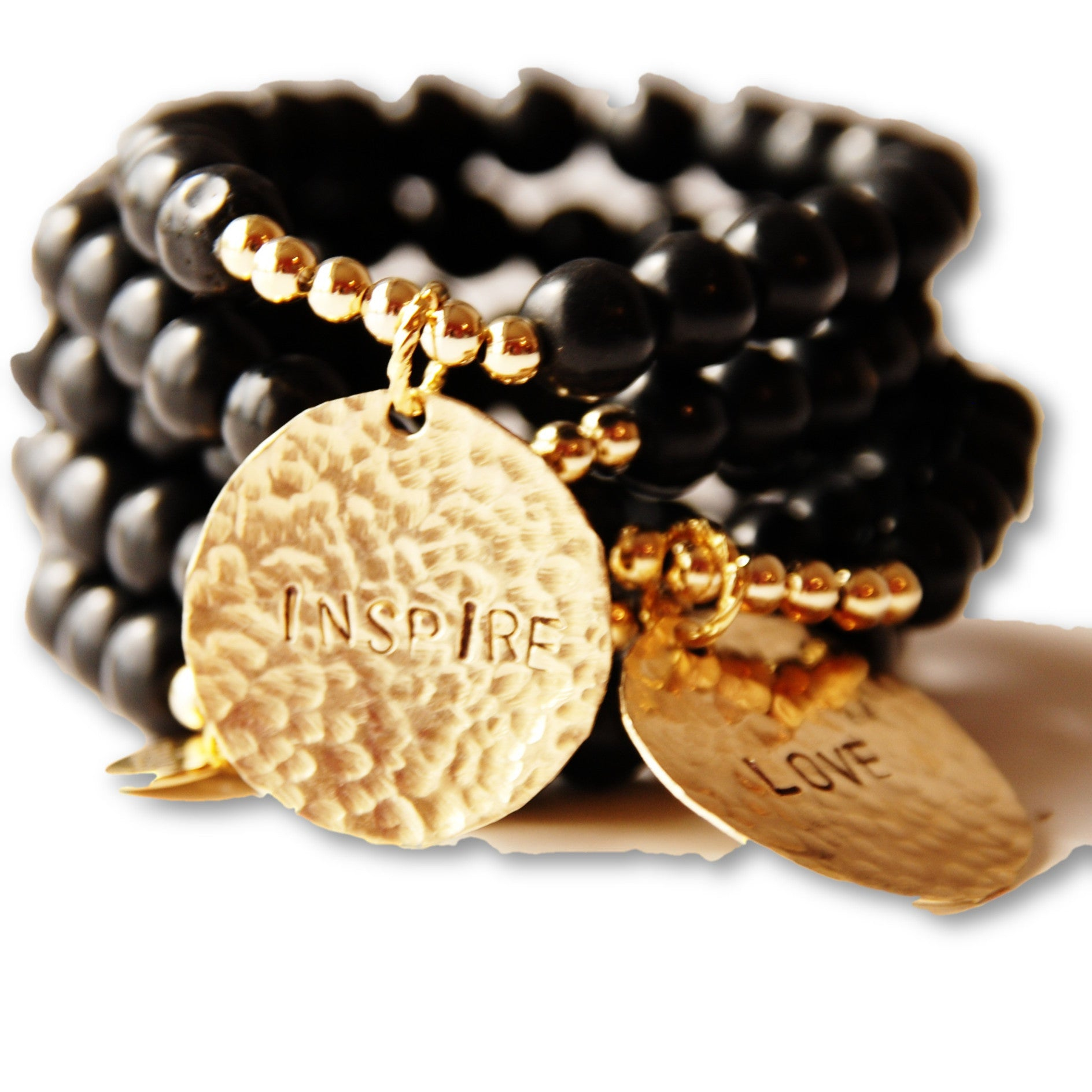 Carmen in Black Bracelets - LISANA FALCON - jewelry -