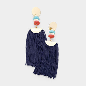 Marbella Earrings  - Navy