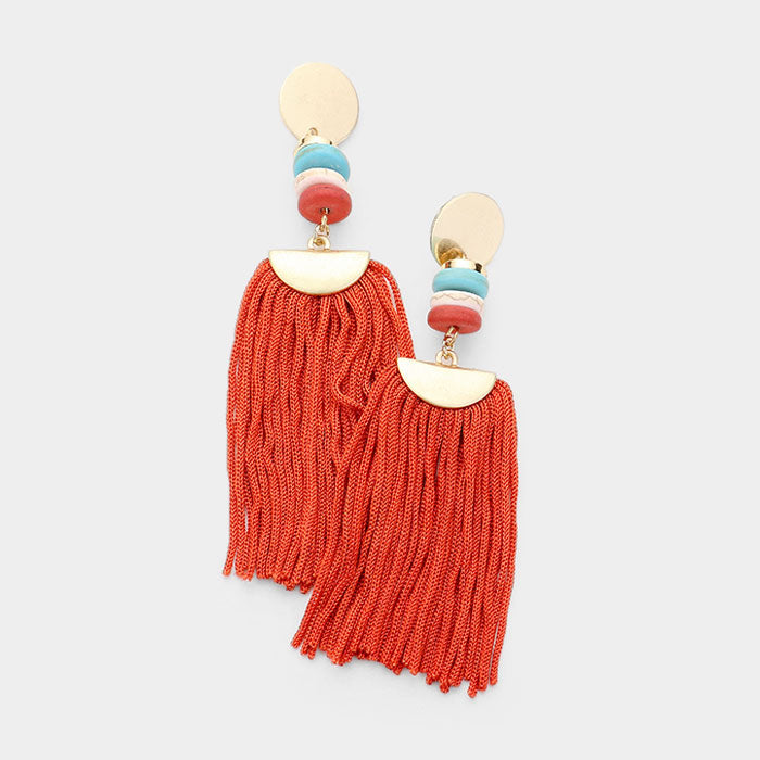 Marbella Earrings  - Coral