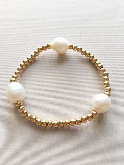 Órbita - pearls and gold band