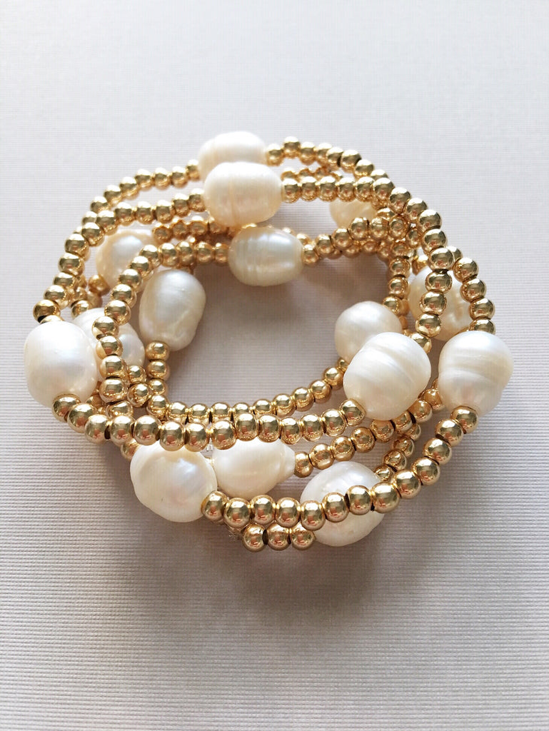 Pearls and Gold Set of 5