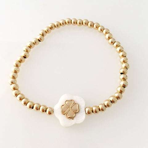Good luck gold skinny bracelet