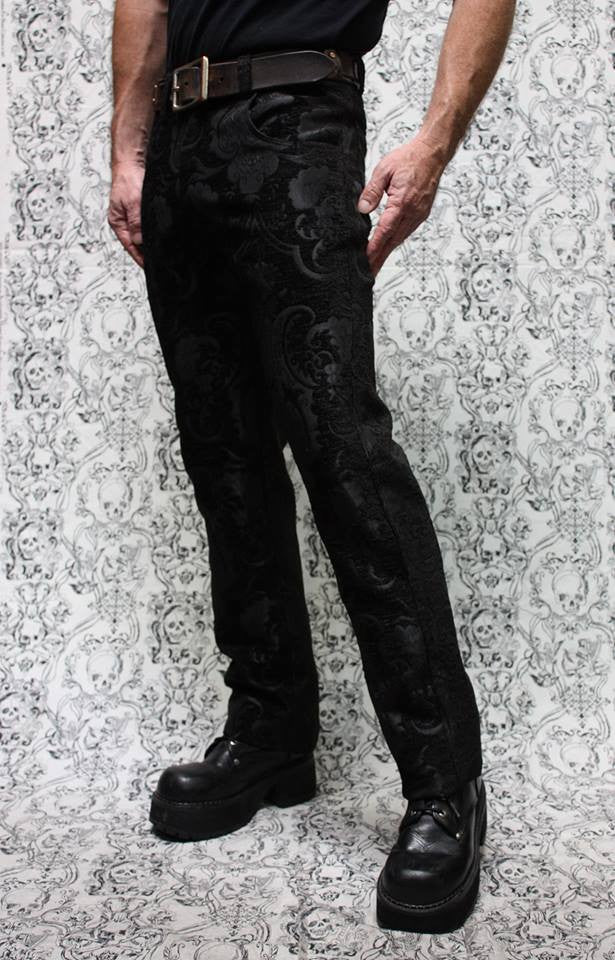 SHRINE UNDERGROUND COUTURE - BLACK TAPESTRY PANTS - FETISH