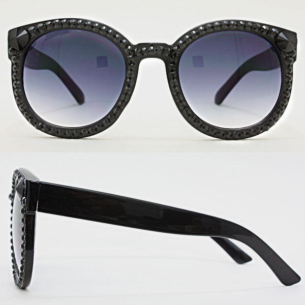 FETISH - 70'S STYLE ROUND GLASSES WITH RHINESTONES - FETISH