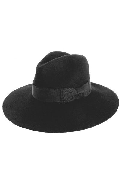 WIDE BRIM PANAMA FEDORA WITH RIBBON
