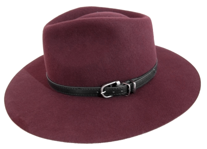 FELT PANAMA HAT WITH BUCKLE DETAIL (AVAILABLE IN 3 COLORS)