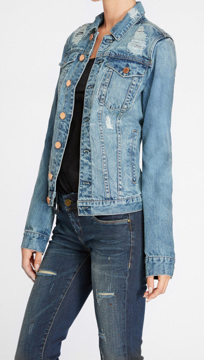 BLANK NYC - DISTRESSED DENIM JACKET - FETISH