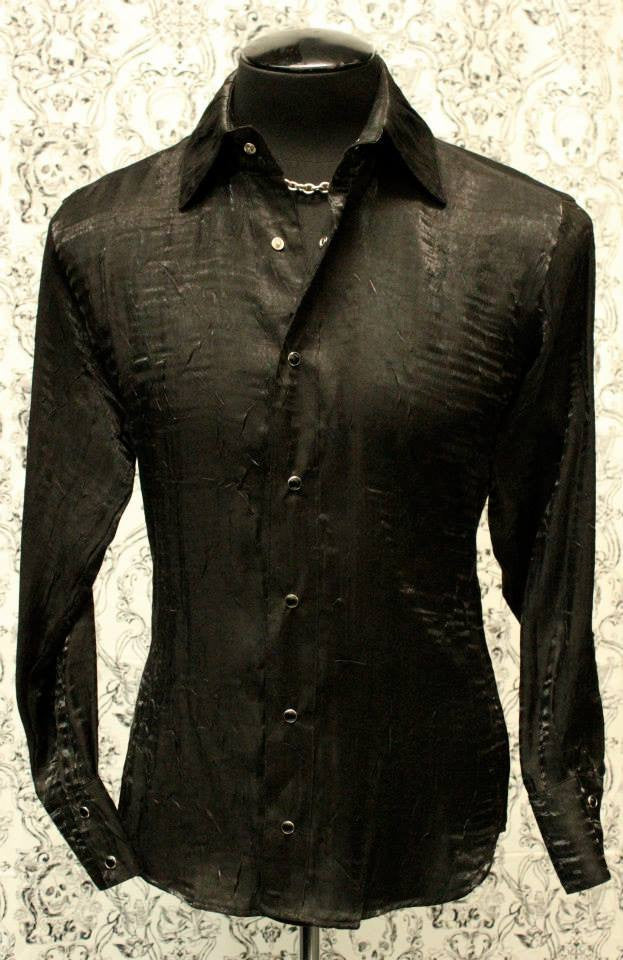 SHRINE UNDERGROUND COUTURE - SHIMMER SHIRT BLACK - FETISH