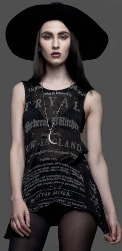 HOUSE OF WIDOW - SLEEVELESS WITCH TRIAL TOP - FETISH