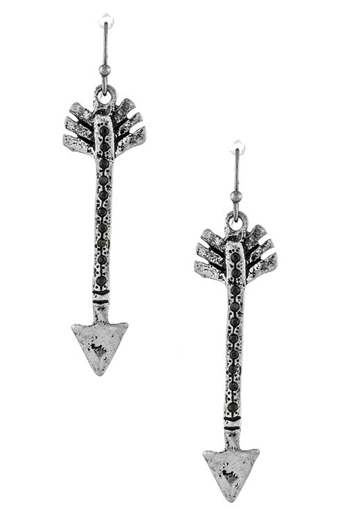FETISH - ANTIQUE ARROW ACCENT EARRINGS - FETISH