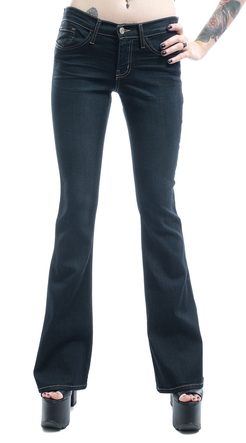 FLYING MONKEY - BASIC STRETCH FLARE JEAN - FETISH
