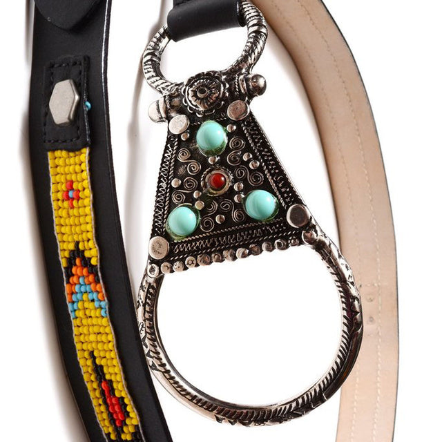 YELLOW NAVAJO BEADED BELT