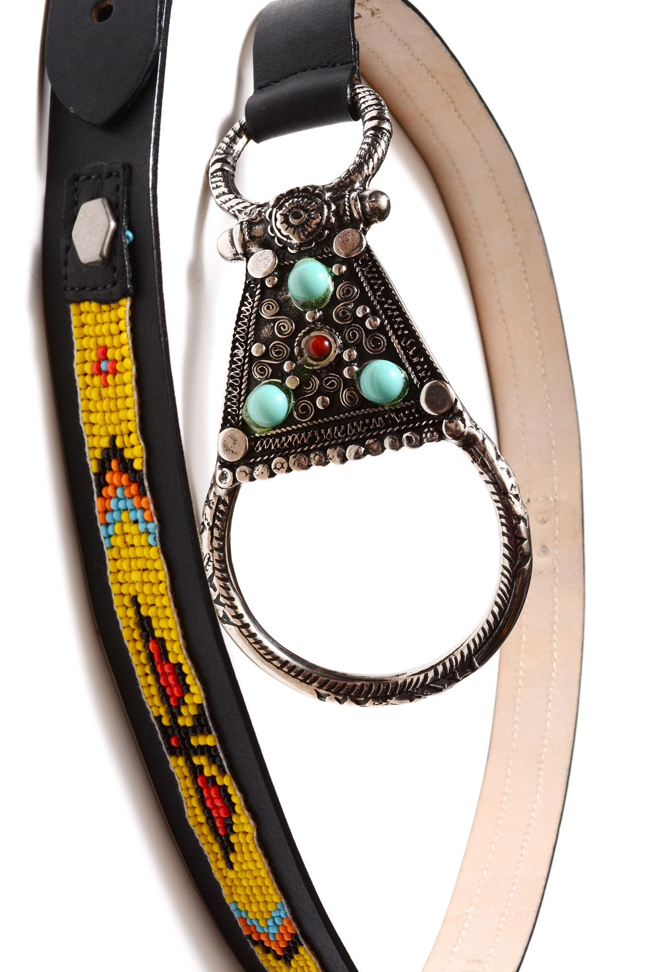 STREETS AHEAD - YELLOW NAVAJO BEADED BELT - FETISH