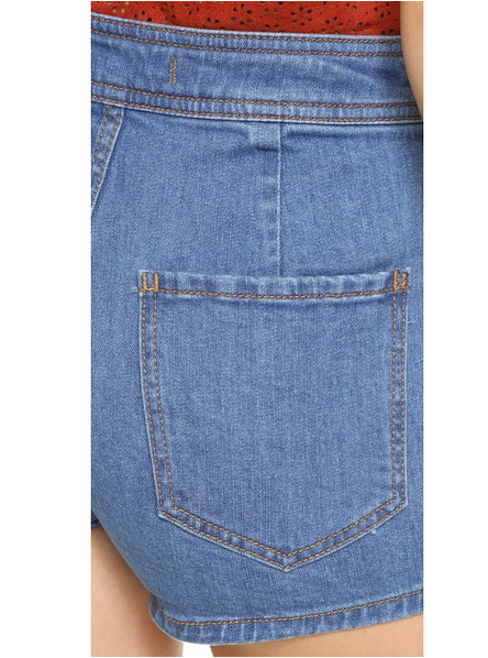 FREE PEOPLE - BE MINE SHORTS IN BLUE DENIM - FETISH