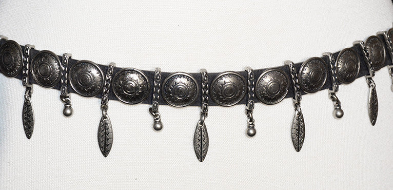 STREETS AHEAD - SILVER CHARM ORNAMENT CONCHO BELT - FETISH