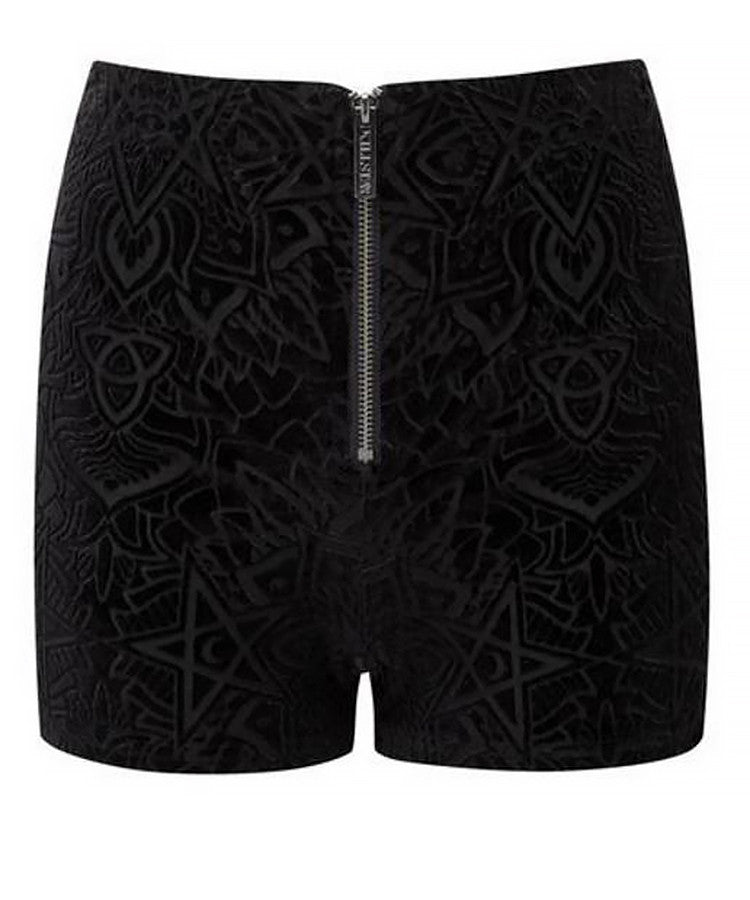 BURN BABY BURN ZIP FRONT HOT PANTS