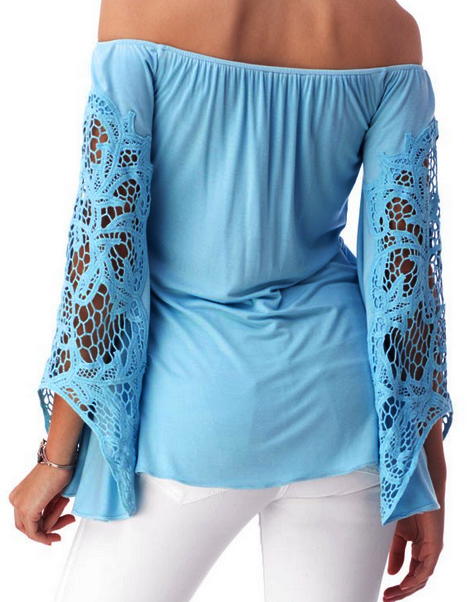 CLAMA TOP IN SKY BLUE