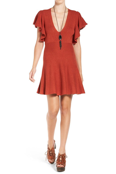COZY NIGHTS KNIT DRESS IN RED