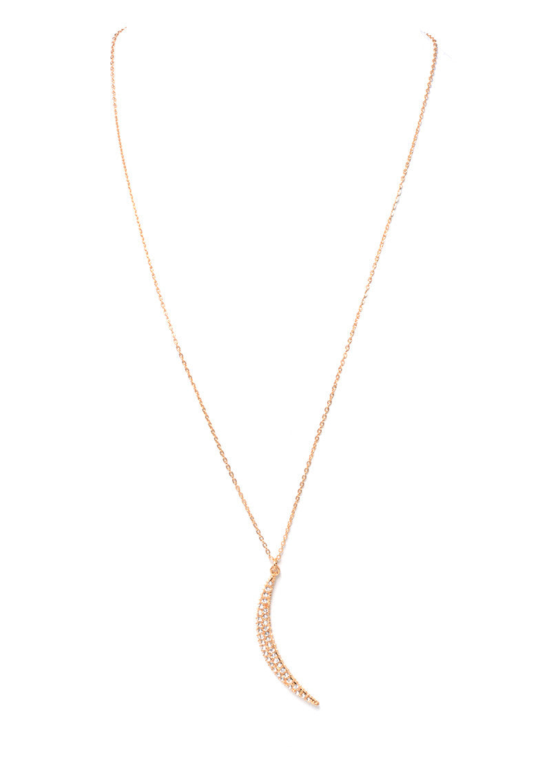 MARLYN SCHIFF - CRESCENT MOON NECKLACE (2 COLORS AVAILABLE) - FETISH