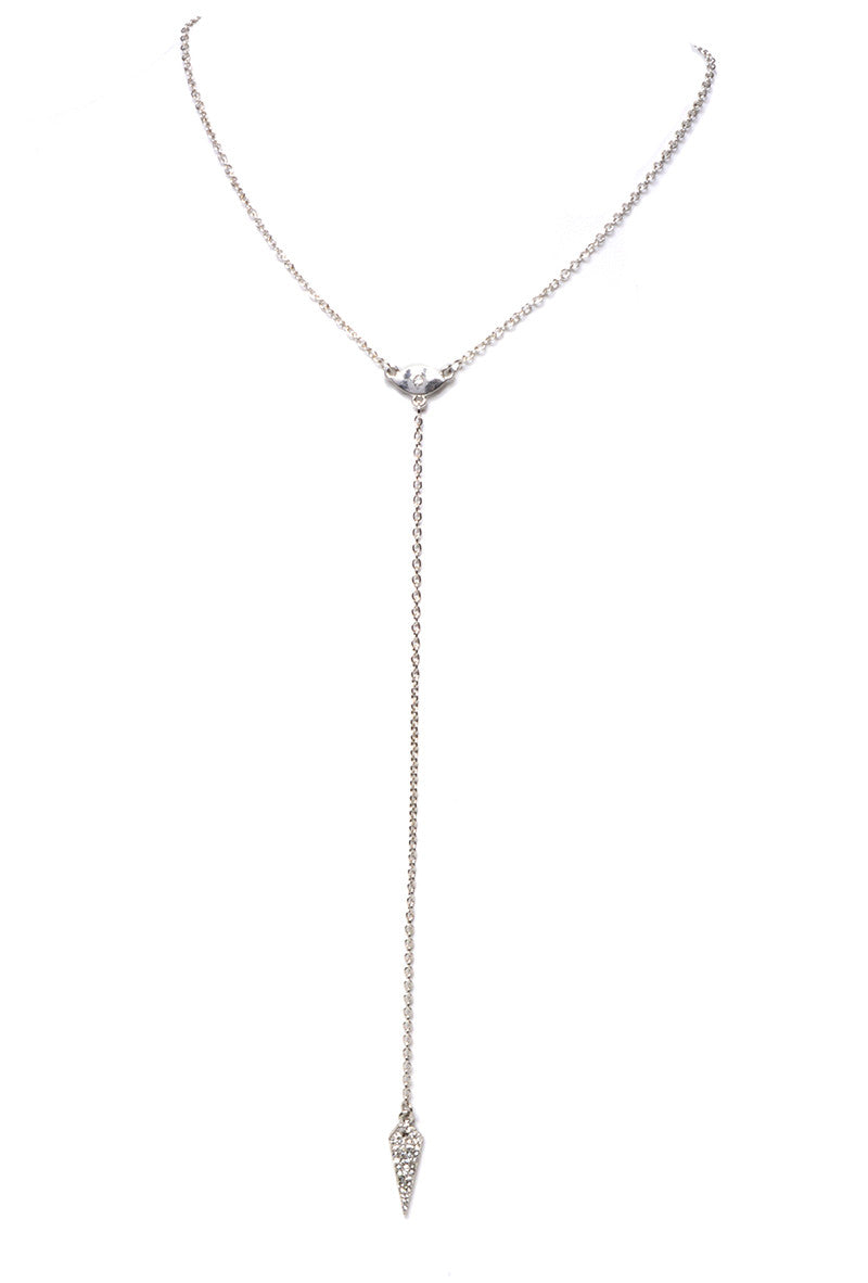 "MARLYN SCHIFF - DAGGER ""Y"" CHAIN NECKLACE (2 COLORS AVAILABLE) - FETISH"