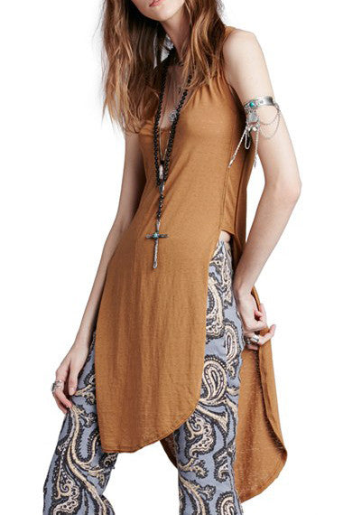 DAYDREAMER TUNIC IN BROWN