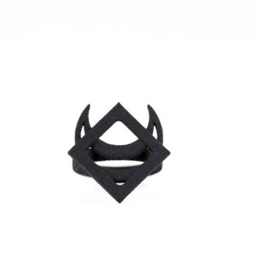 THE ROGUE + THE WOLF - DRACO RING IN BLACK - FETISH
