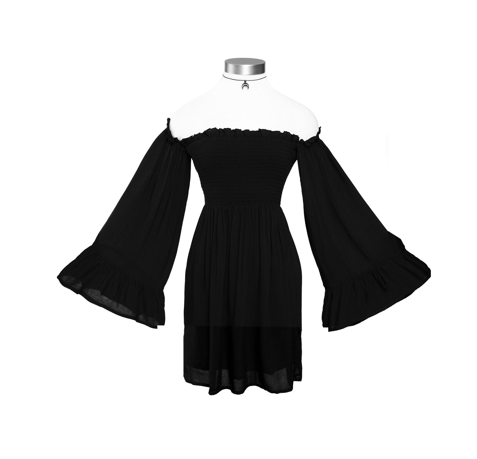 NIKKI OFF THE SHOULDER BELL SLEEVE BABYDOLL