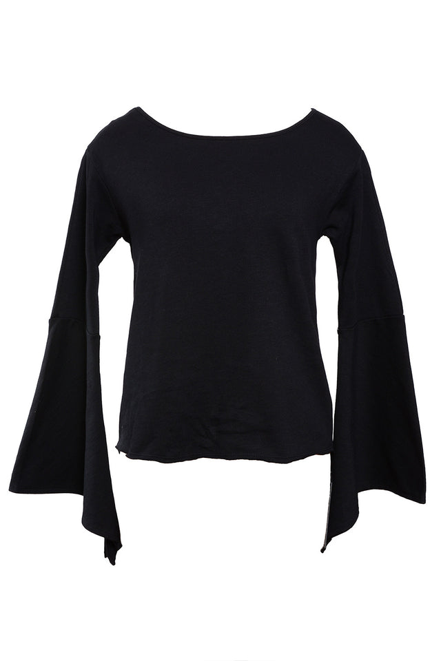 """SHADOW"" BELL SLEEVE PULLOVER TOP"