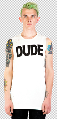24 Hrs. by Lipservice - DUDE SLEEVELESS TEE - FETISH