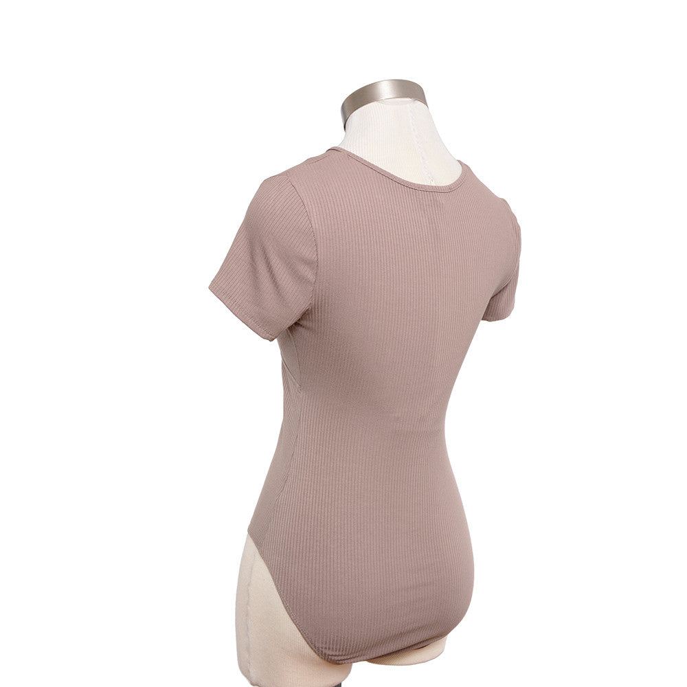 Etta Bodysuit in Taupe