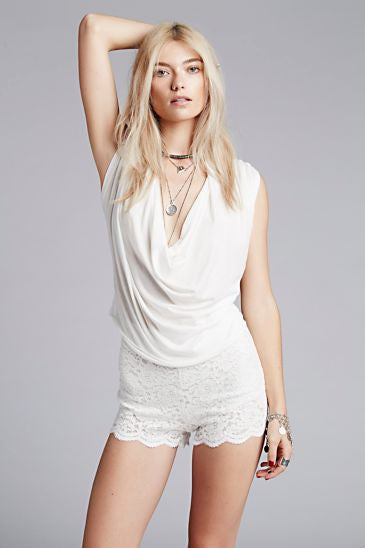 FREE PEOPLE - LACE BIKER SHORT - FETISH
