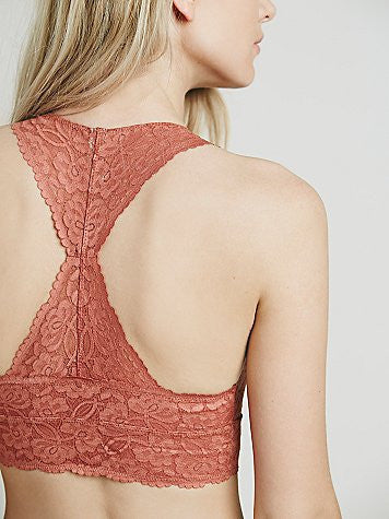FREE PEOPLE - LACE RACERBACK CROP BRALETTE (AVAILABLE IN 5 COLORS) - FETISH