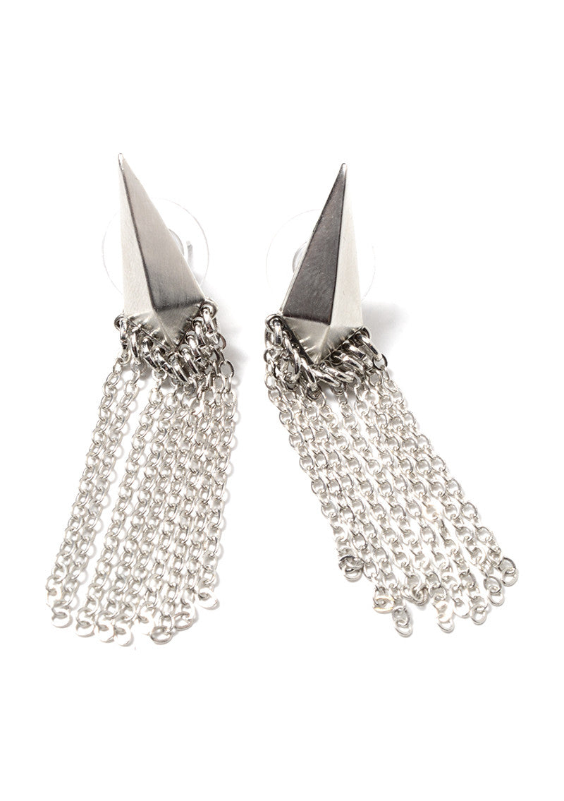 MARLYN SCHIFF - ARROWHEAD FRINGE EARRINGS (2 COLORS AVAILABLE) - FETISH