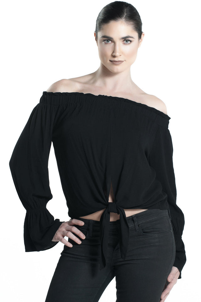 TOPANGA TOP IN BLACK
