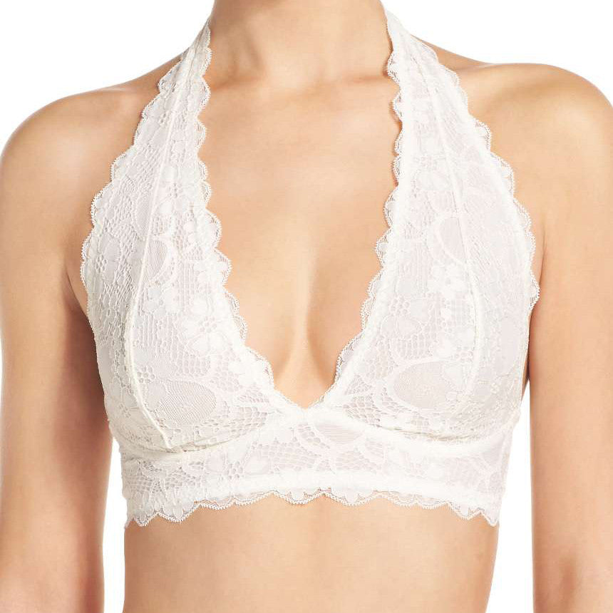 GALLOON LACE HALTER BRALETTE IN 4 COLORS