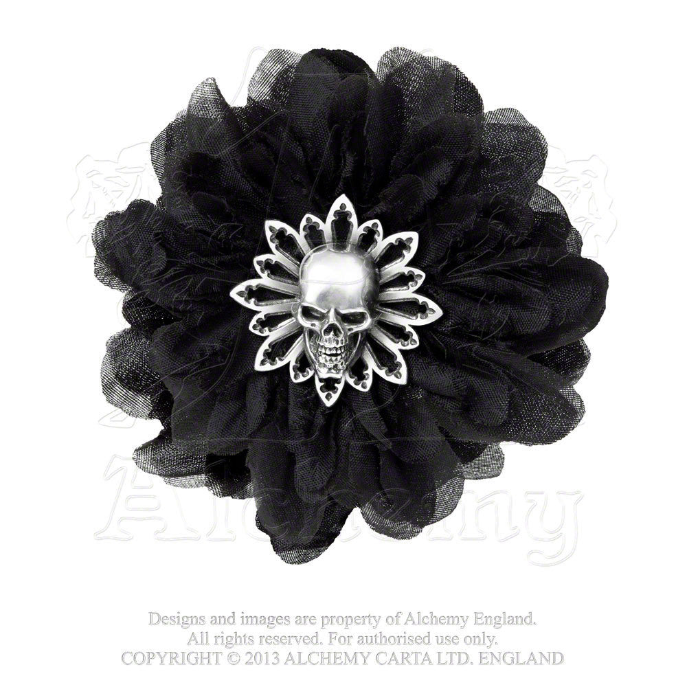 ALCHEMY OF ENGLAND - BLACK DAHLIA HAIR CLIP - FETISH