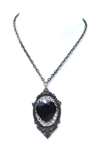 GASOLINE GLAMOUR - JET HEART NECKLACE - FETISH