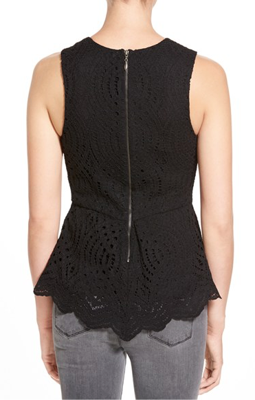 WILLOW & CLAY - LACE PEPLUM TANK - FETISH