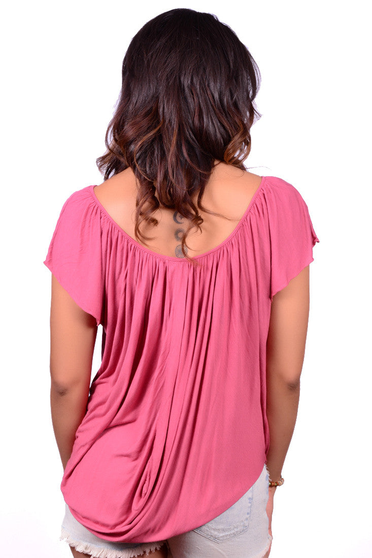 LIZBETH DRAPE TOP (2 COLORS AVAILABLE)