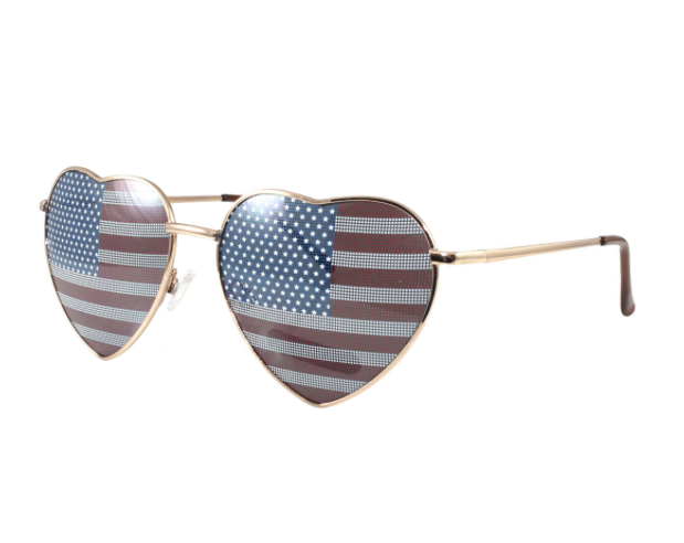 FETISH - LUV US HEART SHAPED WIRE FRAME SUNGLASSES - FETISH